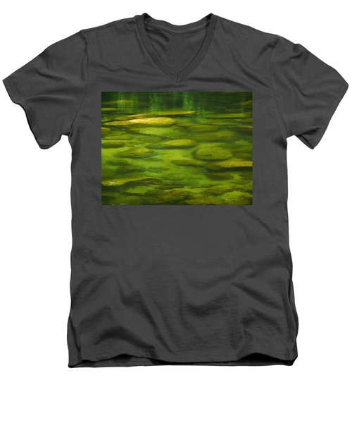 Men's V-Neck T-Shirt featuring the photograph Mossman by Evelyn Tambour