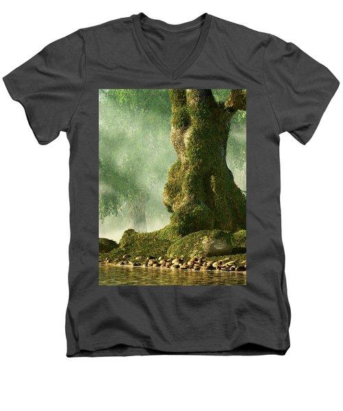 Mossy Old Oak Men's V-Neck T-Shirt