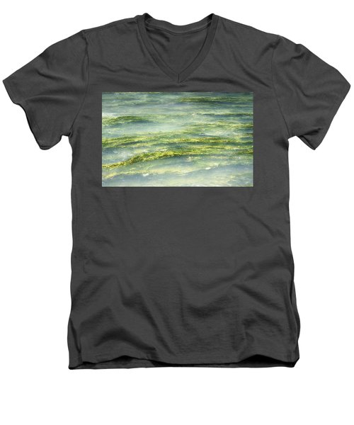 Mossy Tranquility Men's V-Neck T-Shirt by Melanie Lankford Photography