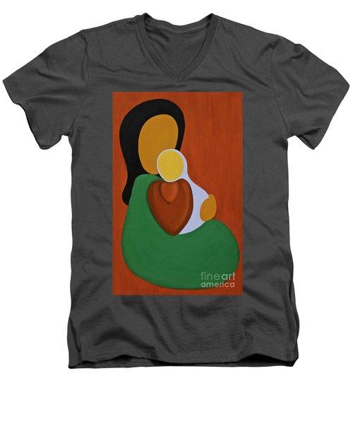 Mother And Son Men's V-Neck T-Shirt
