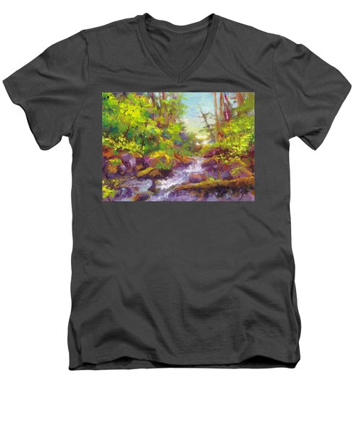 Mother's Day Oasis - Woodland River Men's V-Neck T-Shirt