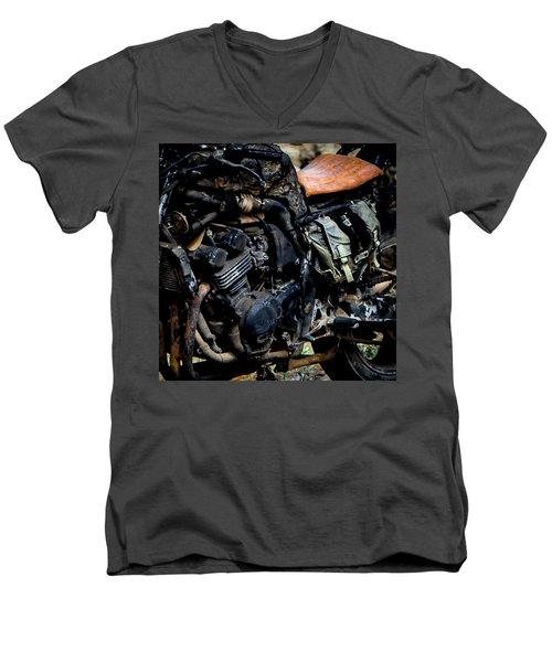 Motorbike Men's V-Neck T-Shirt by Edgar Laureano