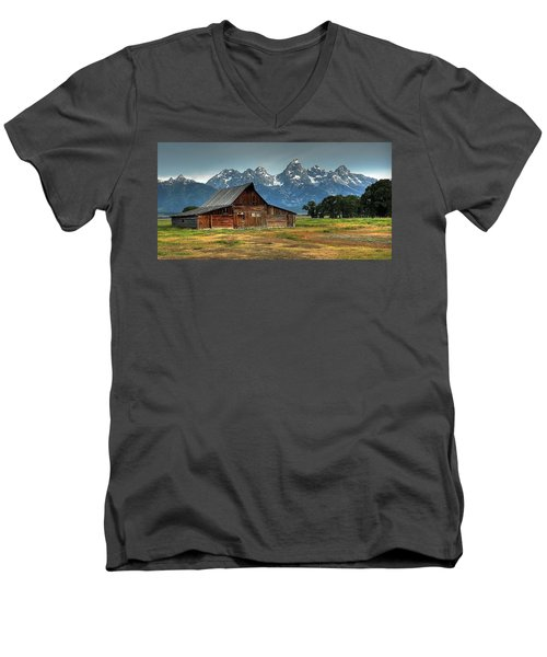 Moulton Barn Morning Men's V-Neck T-Shirt