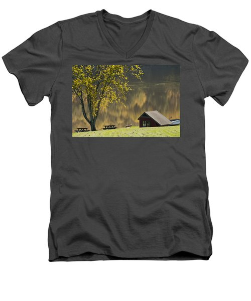 Mount Pisgah Men's V-Neck T-Shirt