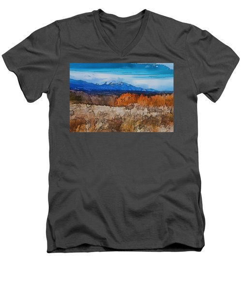 Mount Princeton Men's V-Neck T-Shirt