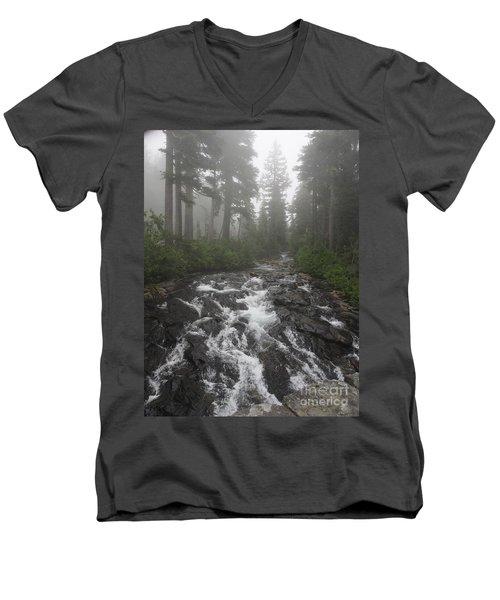 Mount Rainier National Park Men's V-Neck T-Shirt