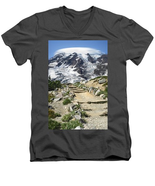 Mount Rainier Trail Men's V-Neck T-Shirt