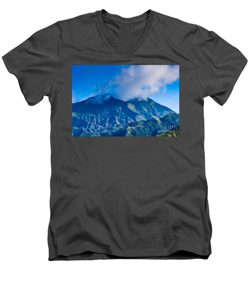Mount Wai'ale'ale  Men's V-Neck T-Shirt