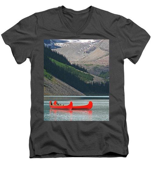Mountain Canoes Men's V-Neck T-Shirt