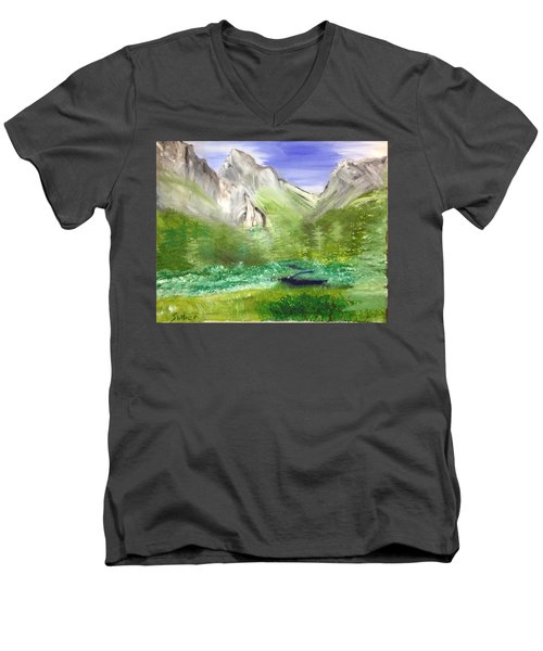 Mountain Day Men's V-Neck T-Shirt