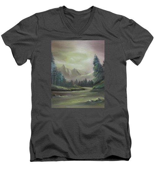 Mountain River Men's V-Neck T-Shirt