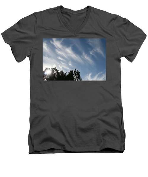 Mountain Sky Men's V-Neck T-Shirt
