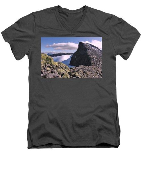 Mountain Summit Ridge Men's V-Neck T-Shirt