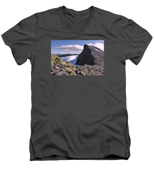 Mountain Summit Ridge Men's V-Neck T-Shirt