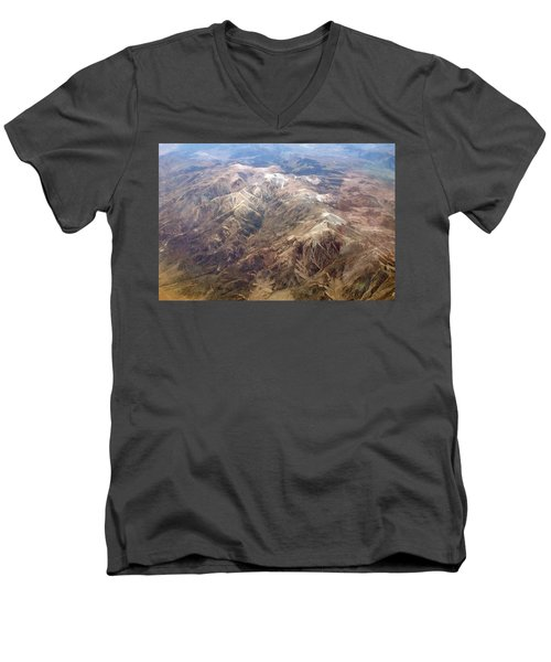Men's V-Neck T-Shirt featuring the photograph Mountain View by Mark Greenberg