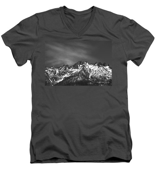 North Cascade Mountain Range Men's V-Neck T-Shirt by Yulia Kazansky