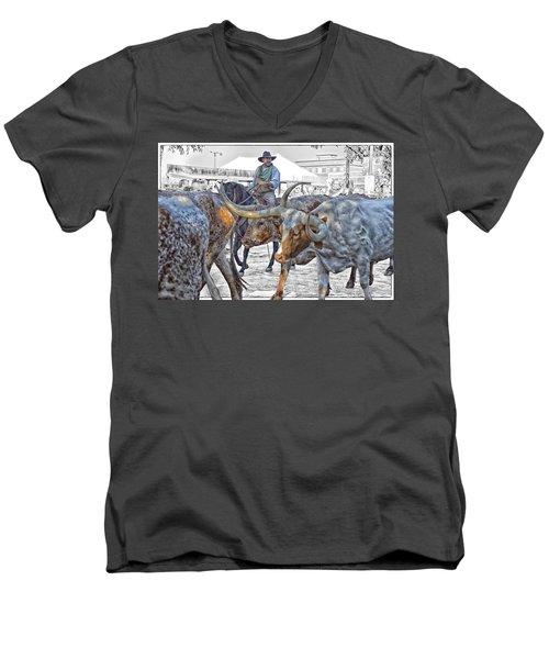 Move Em Out Men's V-Neck T-Shirt