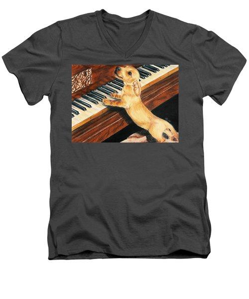 Mozart's Apprentice Men's V-Neck T-Shirt