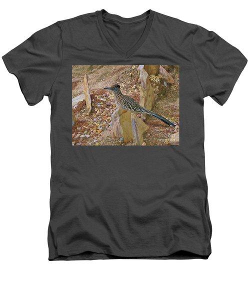 Mr. Beep Beep Men's V-Neck T-Shirt by Angela J Wright