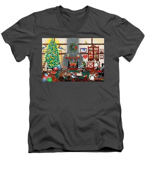 Ms. Elizabeth's Holiday Home Men's V-Neck T-Shirt