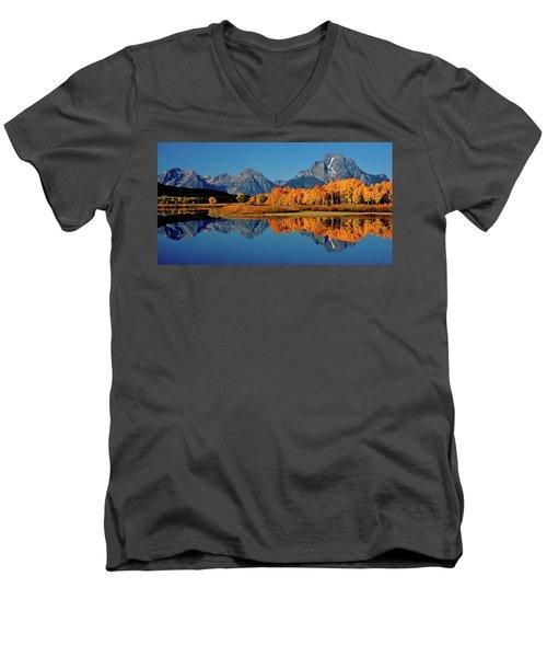 Mt. Moran Reflection Men's V-Neck T-Shirt
