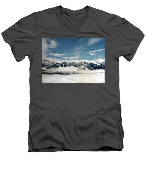 Men's V-Neck T-Shirt featuring the photograph Mt Olympus by Greg Reed
