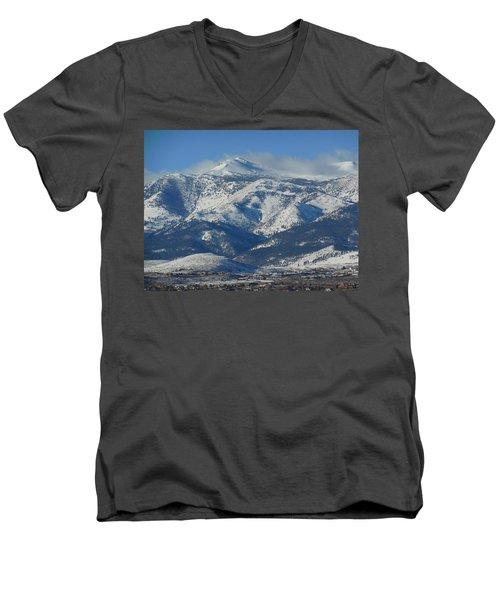 Mt Rose Reno Nevada Men's V-Neck T-Shirt by Dan Whittemore