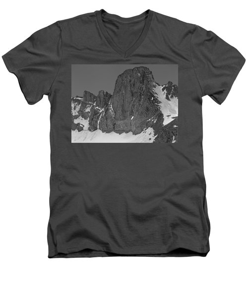 406427-mt. Sill, Bw Men's V-Neck T-Shirt