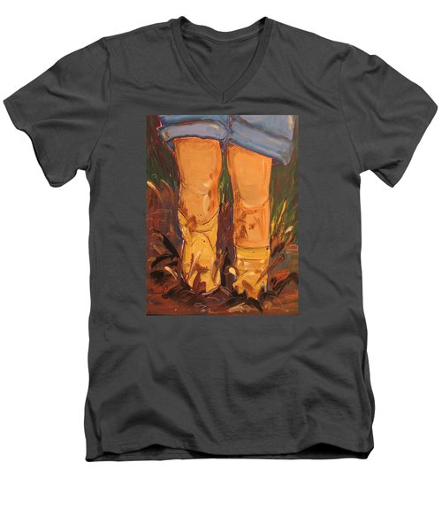Mud Puddle Fun Men's V-Neck T-Shirt