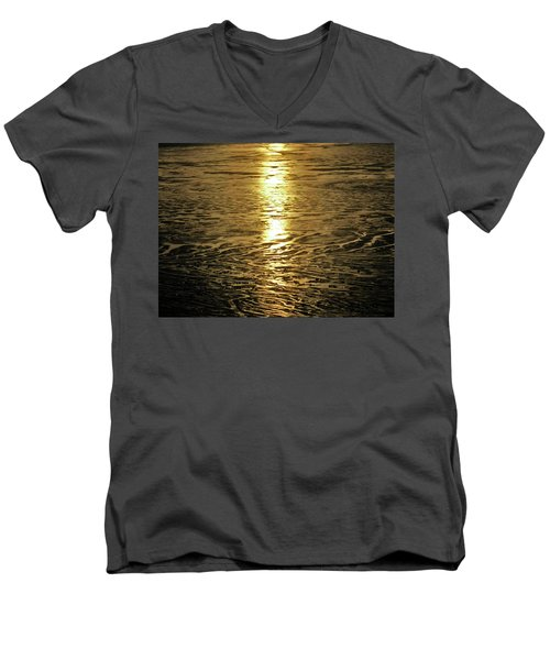 Men's V-Neck T-Shirt featuring the photograph Muddy Reflection by Jeremy Rhoades