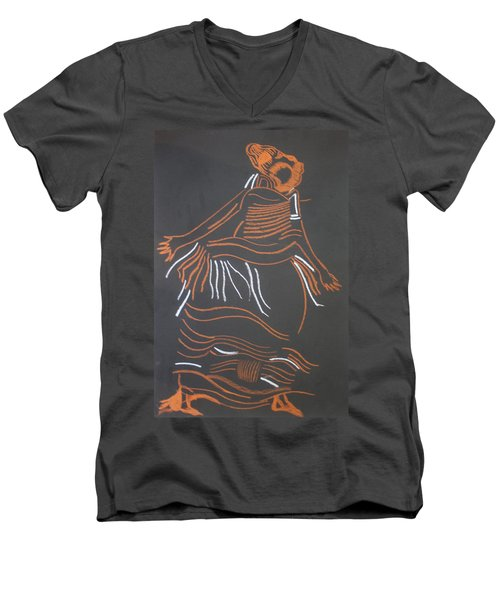 Muganda Lady - Uganda Men's V-Neck T-Shirt