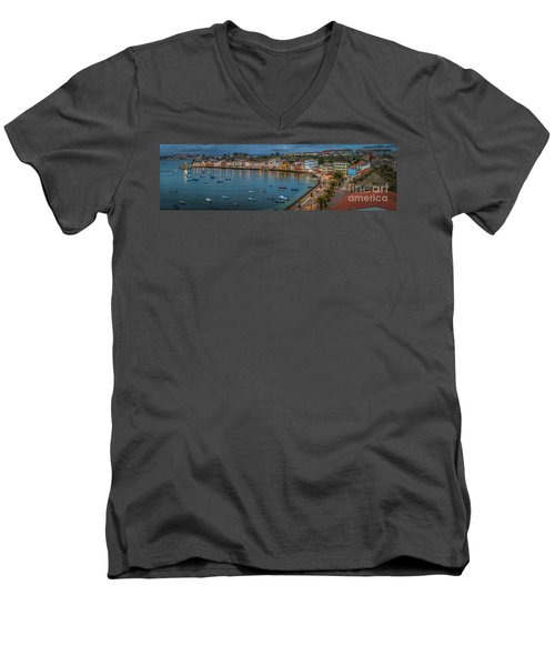 Mugardos Panorama Galicia Spain Men's V-Neck T-Shirt
