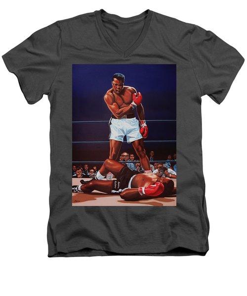 Muhammad Ali Versus Sonny Liston Men's V-Neck T-Shirt