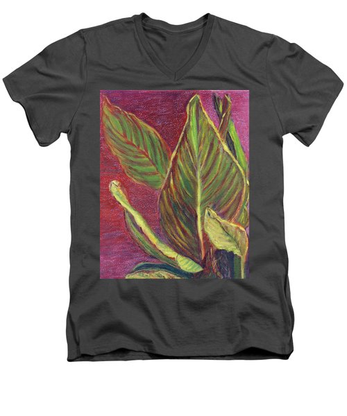 Multicolor Leaves Men's V-Neck T-Shirt