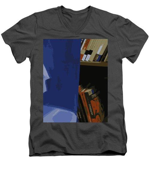 Multimedia Books Men's V-Neck T-Shirt