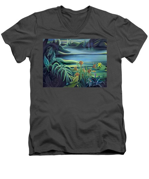 Mural Bird Of Summers To Come Men's V-Neck T-Shirt
