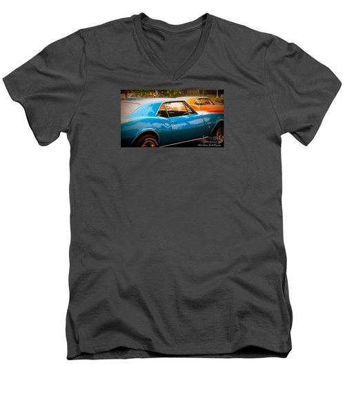 Muscle Men's V-Neck T-Shirt by Bobbee Rickard