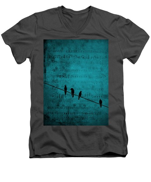 Music Soothes The Soul Men's V-Neck T-Shirt by Andrea Kollo