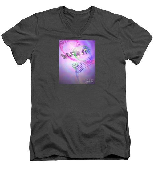 Musical Alchemy Men's V-Neck T-Shirt by Dee Davis