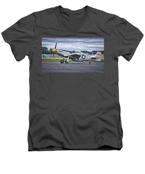 Mustang P51 Men's V-Neck T-Shirt by Steven Ralser