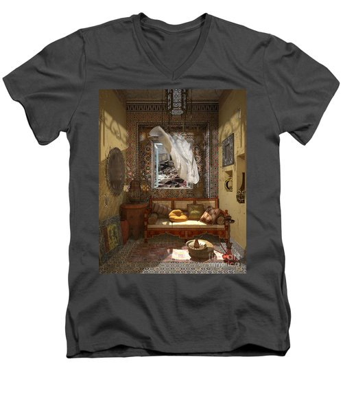 My Art In The Interior Decoration - Morocco - Elena Yakubovich Men's V-Neck T-Shirt by Elena Yakubovich