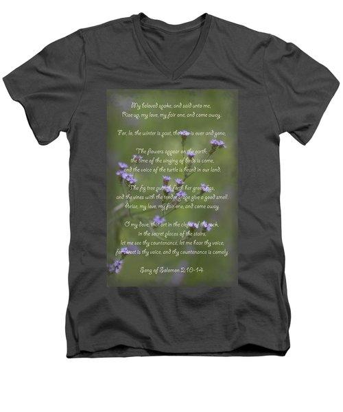 My Beloved Spoke - Purpletop Vervain Verbena Bonariensis Men's V-Neck T-Shirt