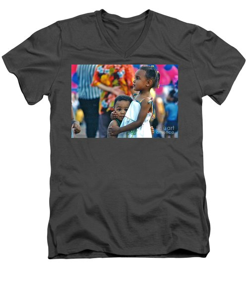 Men's V-Neck T-Shirt featuring the photograph My Brother's Keeper by Sean Griffin