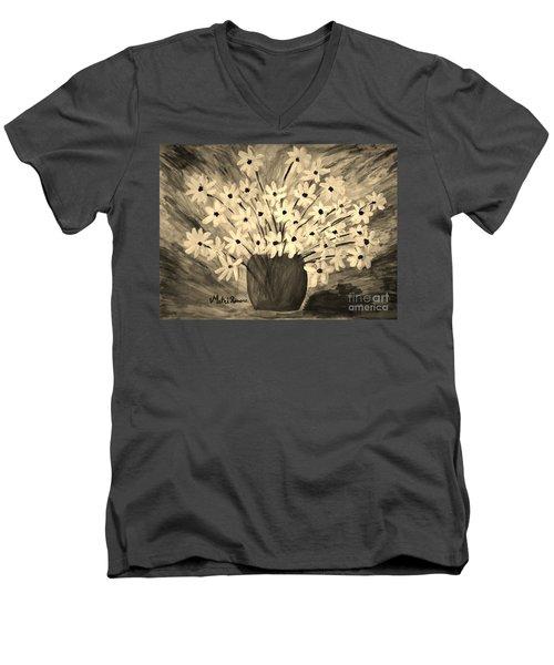 My Daisies Sepia Version Men's V-Neck T-Shirt