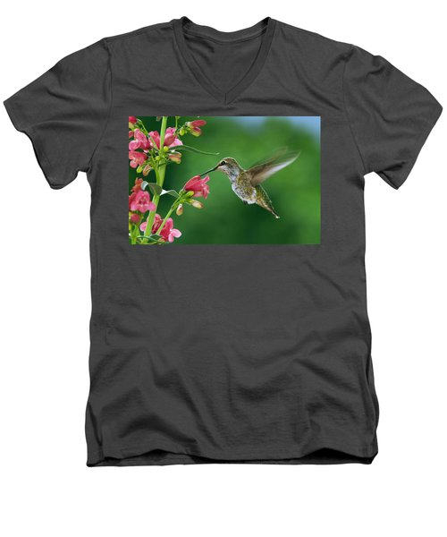 Men's V-Neck T-Shirt featuring the photograph My Favorite Flowers by William Lee