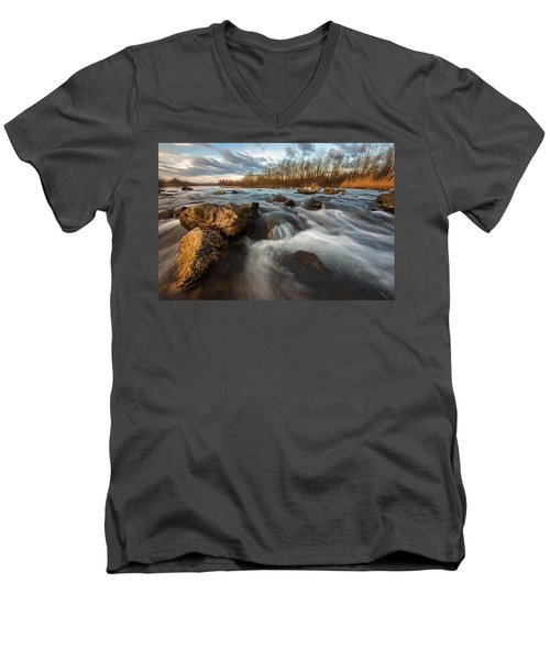 Men's V-Neck T-Shirt featuring the photograph My Favorite Spot by Davorin Mance