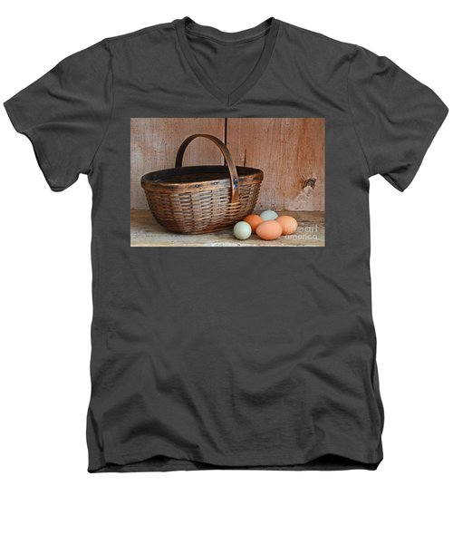 My Grandma's Egg Basket Men's V-Neck T-Shirt