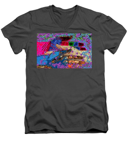 My Hand   Your Hand  And A Helping Hand Men's V-Neck T-Shirt