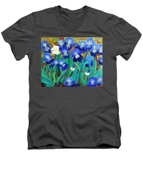 My Iris - Inspired  By Vangogh Men's V-Neck T-Shirt