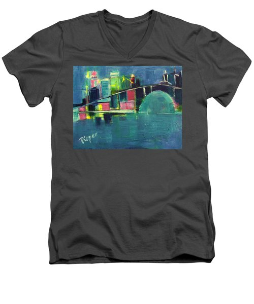 My Kind Of City Men's V-Neck T-Shirt